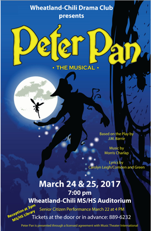 Peter Pan HS Musical 7 PM March 25