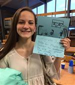 Fourth Graders gave handmade cards for the Girls Soccer Players