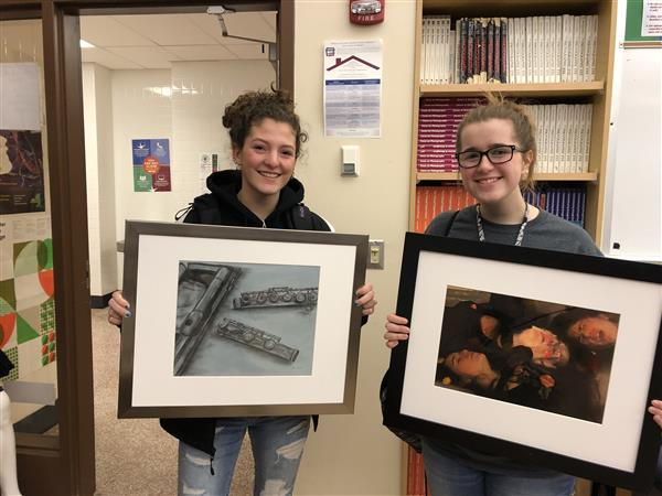 Art students show off their art work in exhibition
