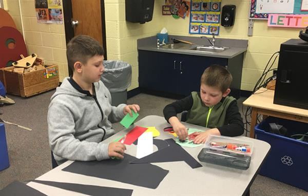 Kindergarten and Fifth-Grade Buddies Learn about Kindness